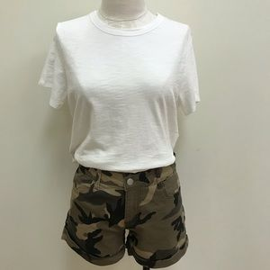 NWT Mittoshop Camouflage Mid Rise Shorts